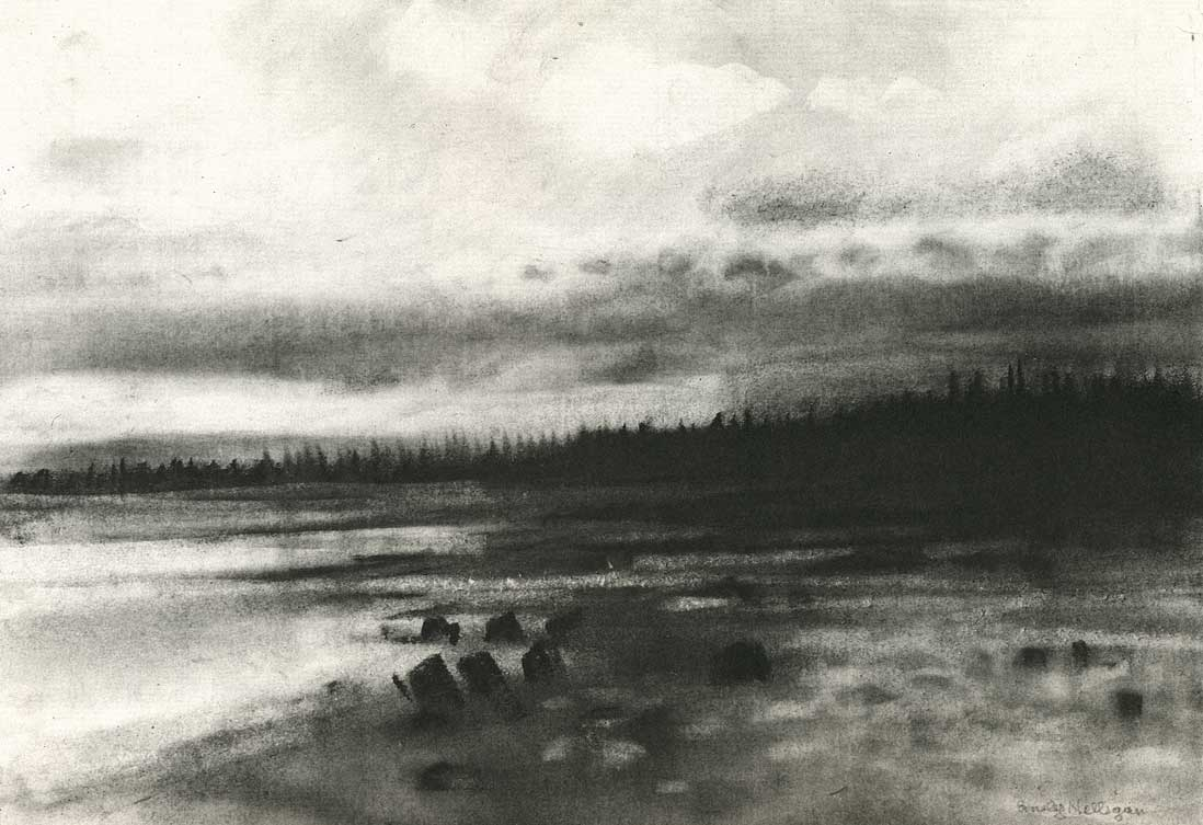 Emily Nelligan, 1 October 2000, Charcoal on paper, 7 1/4 x 10 1/2 inches (courte