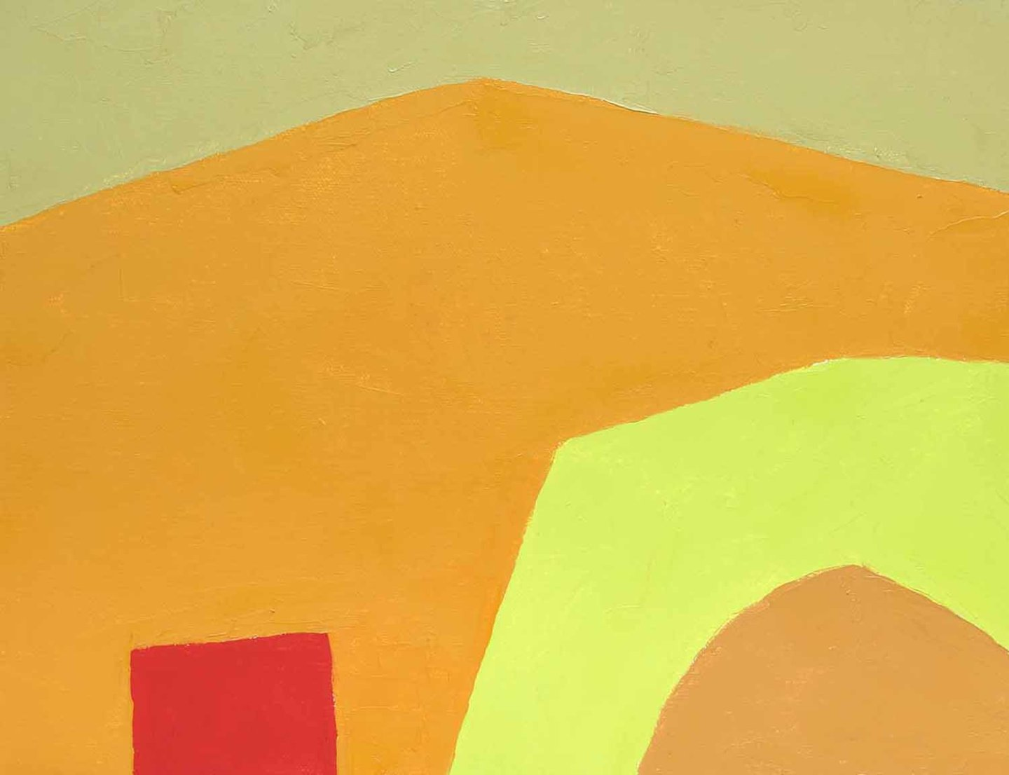 Etel Adnan, Sans titre, 2014 (courtesy of the Artist and Galerie Lelong, Paris/New York)