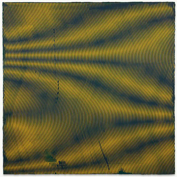 Anoka Faruqee, 2013P 84 (Wave), 2013, acrylic on linen on panel, 45 x 45 inches