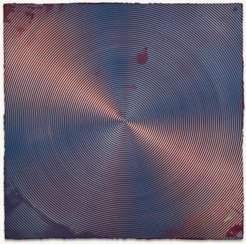 Anoka Faruqee, 2013-76 (Circle), acrylic on linen on panel, 45 x 45 inches, (cou