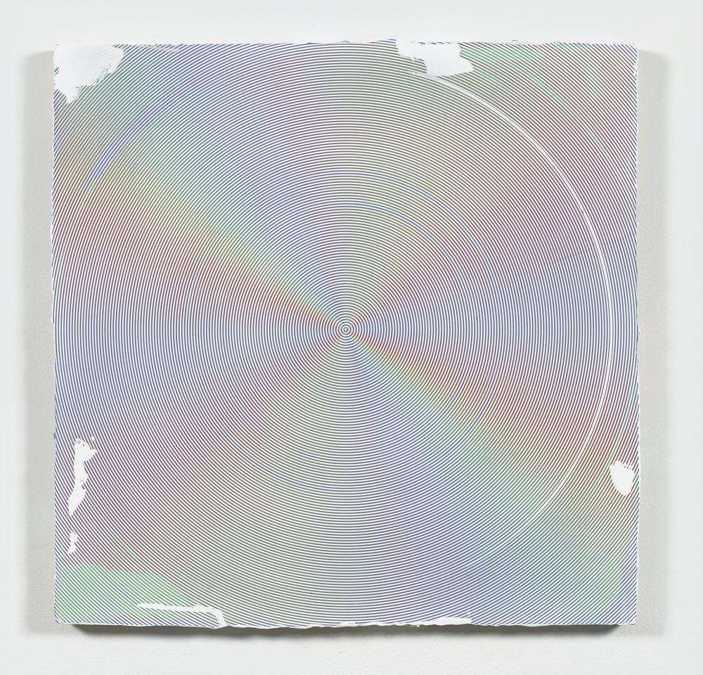 Anoka Faruqee, 2016P-09 (Circle), 2016, acrylic on linen on panel, 33.75 × 33.75 inches (courtesy of the artist)