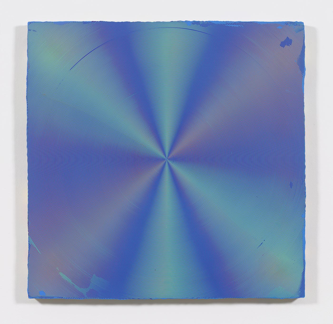 Anoka Faruqee, 2017P-06 (Circle), 2017, acrylic on linen on panel, 45 x 45 inches (courtesy of the artist and Koenig & Clinton, New York, photo: Jeffrey Sturges)