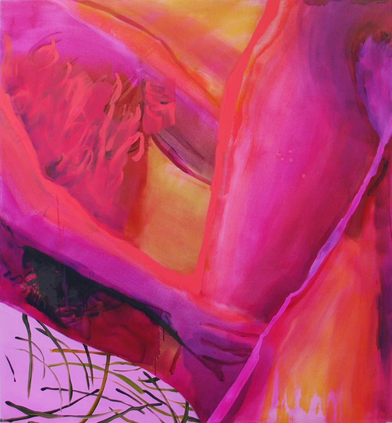 Sarah Faux, Touch, 2014, oil on canvas, 56 x 50 inches (courtesy of the artist)