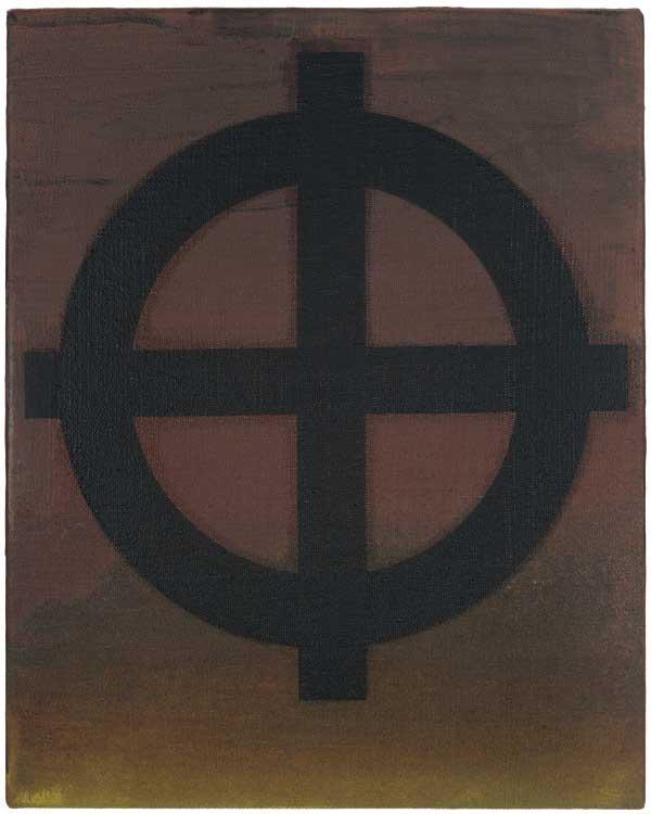 Helmut Federle, Sektion des Zorns, 2013, vegetable oil, acrylic on canvas, 19 5/