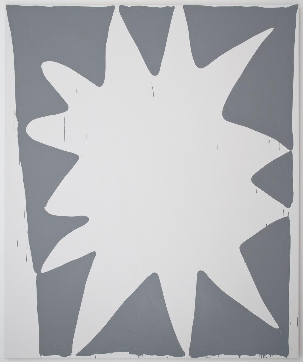 Amy Feldman, POW NOW, 2013, acrylic on canvas, 96 x 80 inches (photo by Cary Whi