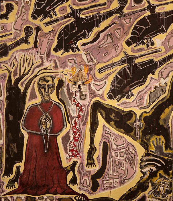 Yisrael K. Feldsott, Bearing Witness, 2013, mixed media on strathmore 4-ply muse
