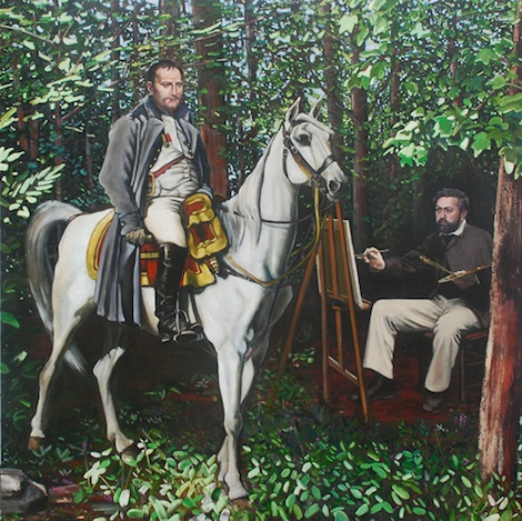 Joe Fig, Study for Napoleon 1814, 2009, oil on canvas, 78 x 78 inches  (courtesy