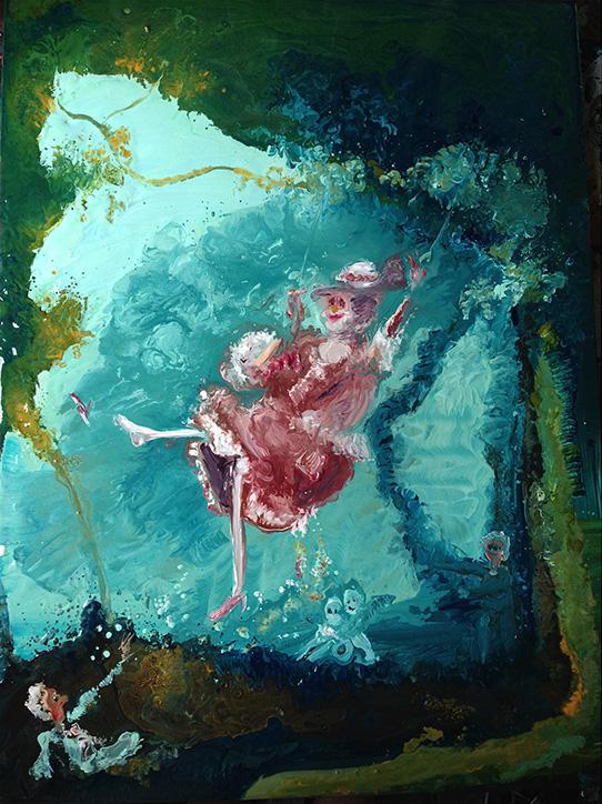 Genieve Figgis, The Swing after Fragonard, 2014 (courtesy of Half Gallery)