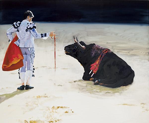 Eric Fischl, Corrida in Ronda #8, 2009, oil on linen, 90 × 108 inches (courtesy