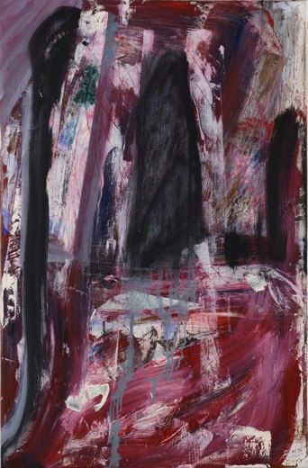 Louise Fishman, Bish Bash Falls, 2012, oil on linen, 30 x 20 inches (photo: Joan