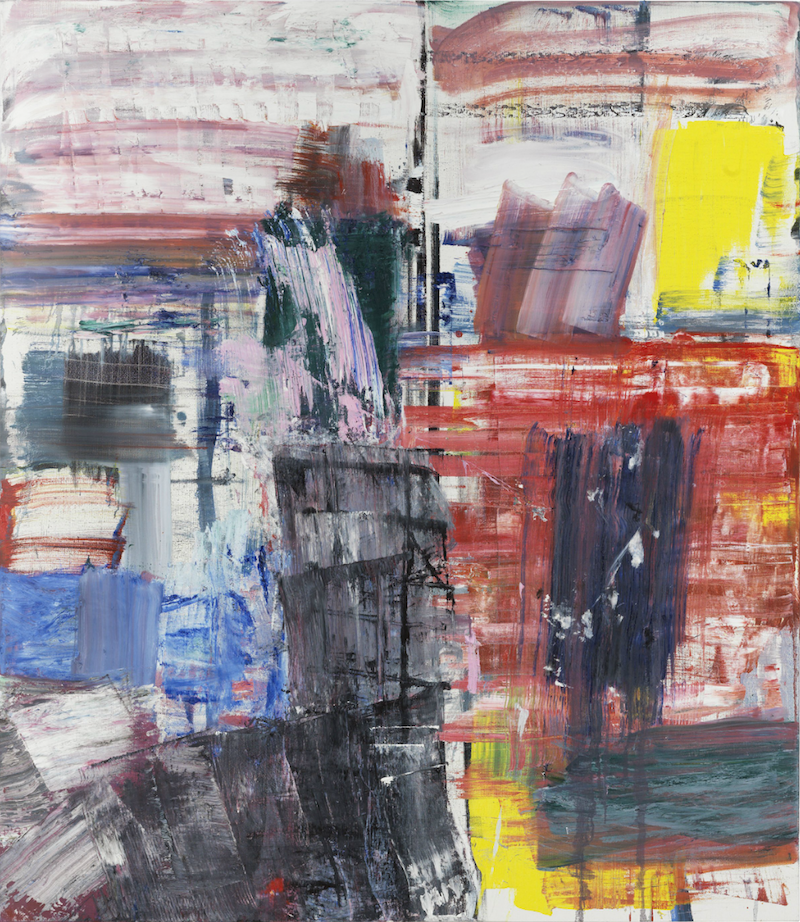 Louise Fishman, All Her Colors, 2014, oil on linen, 66 x 57 inches (courtesy of