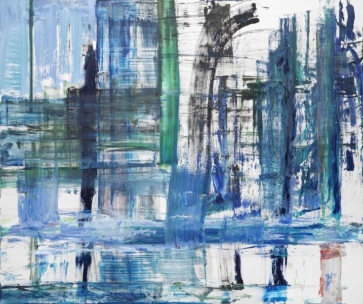 Louise Fishman, Credo, 2015, oil on linen, 72 x 88 inches (courtesy of Cheim & R