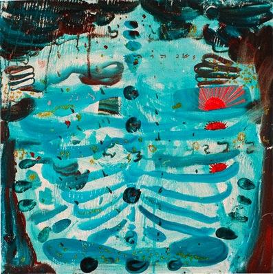 Douglas Florian, Dawn Thief, oil on wood, 18 x 18 inches (courtesy BravinLee Pro