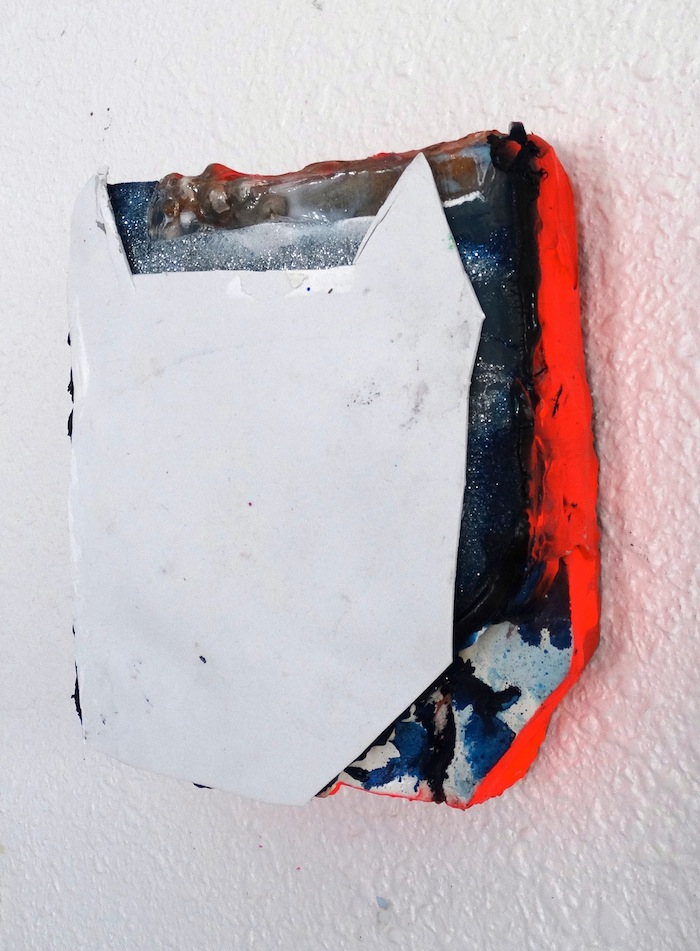 Mandy Lyn Ford, Bad Boy, 2015, acrylic, spray paint, oil paint, foam paper, and