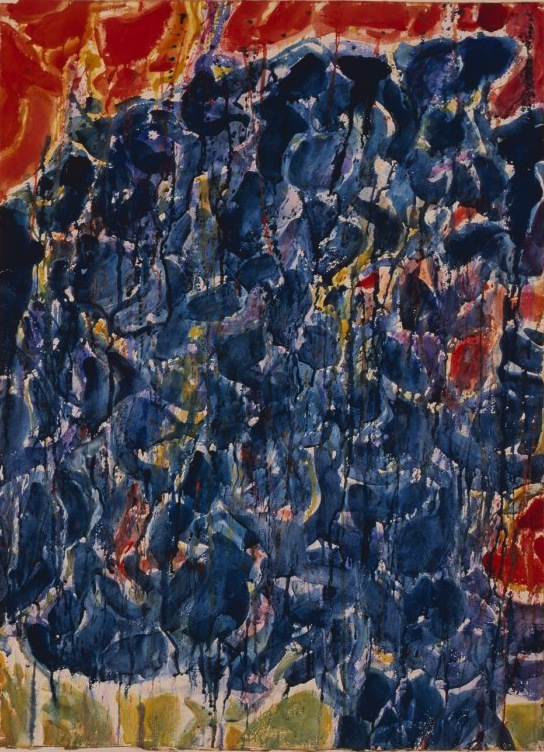 Sam Francis, Côte d'Azur, 1953, watercolor on paper (© Sam Francis Foundation, C