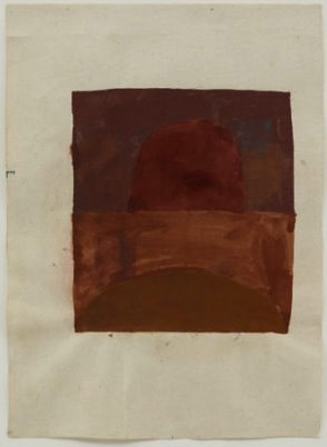 Suzan Frecon oxides (from embodiment of red series), 2007, watercolor on old Ind