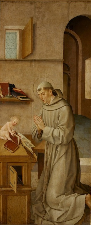 St. Anthony and Child, Workshop of Frei Carlos, 1520-1530 (Museu Nacional de Art
