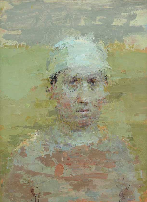 Ann Gale, Portrait in Last Light, 2012, oil on copper, 12 x 9 inches (courtesy o