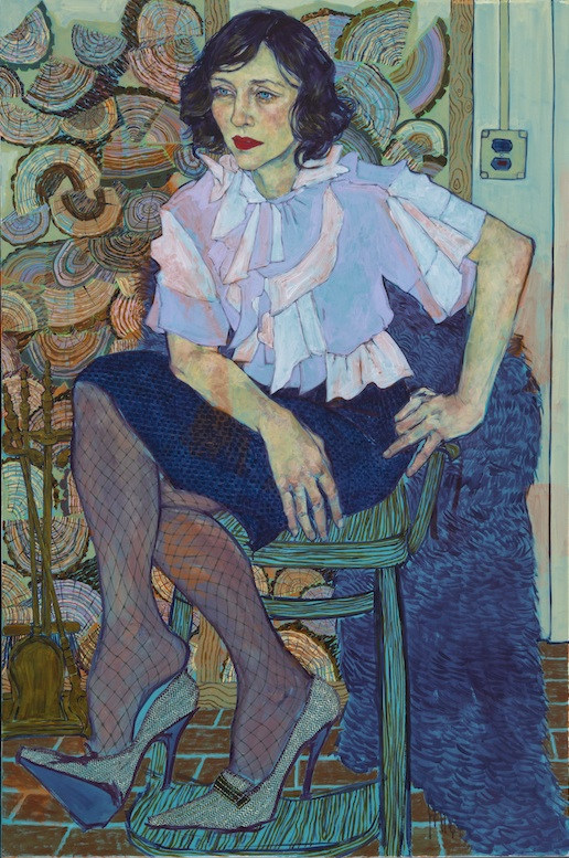 Painting by Hope Gangloff (courtesy of the artist and Susan Inglett Gallery)