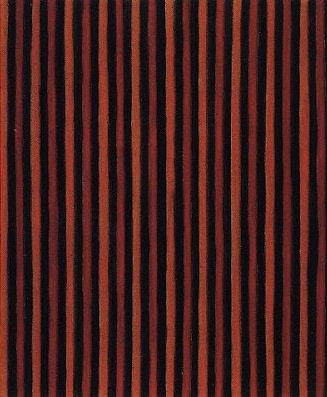 Gene Davis, Black Red Orange, 1958, 12 x 10 inches, oil on canvas