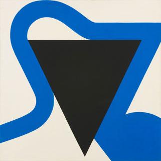 Georg Karl Pfahler, Meta-Leda Nr.IV, 1982, Acrylic on canvas, 200 x 200cm (court