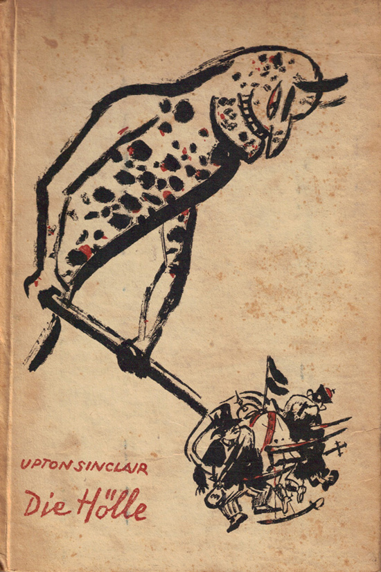 George Grosz, Cover Illustration for Upton Sinclair, Die Hölle, collection of Ri