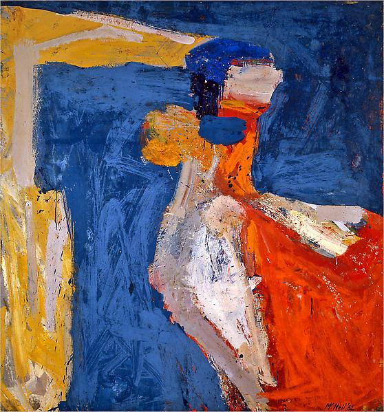 George McNeil, Asphodel, 1962, oil on linen, 78 x 72 inches (courtesy Ameringer