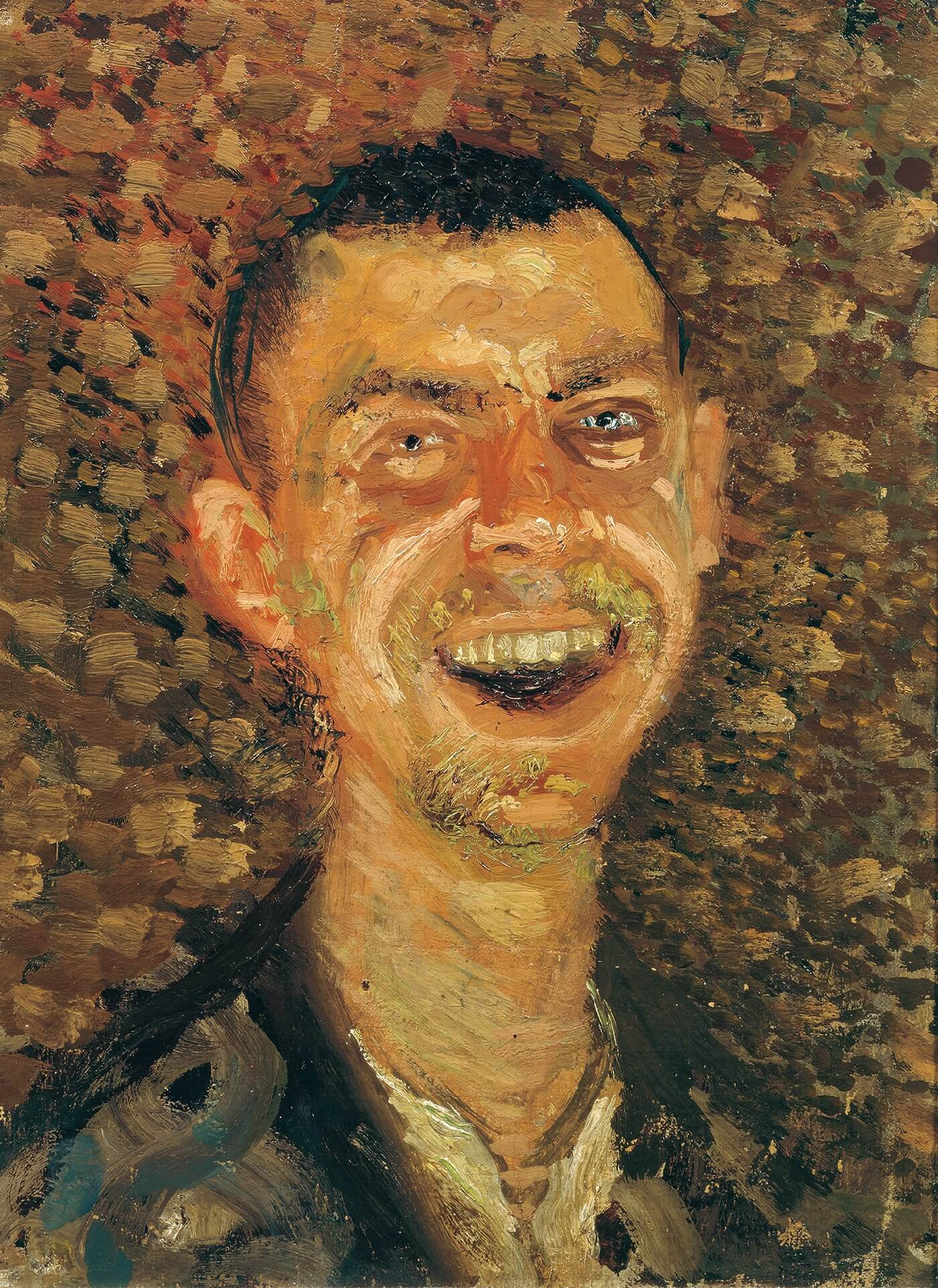 Richard Gerstl, Self-Portrait, Laughing, (summer-autumn 1907), oil on canvas (Belvedere, Vienna)