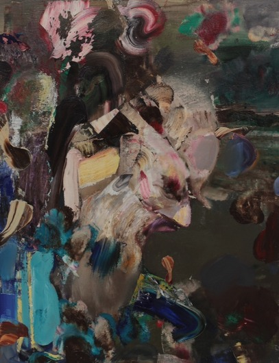 Adrian Ghenie, Self-Portrait as Charles Darwin, 2014, oil on canvas, 60 x 47 cm