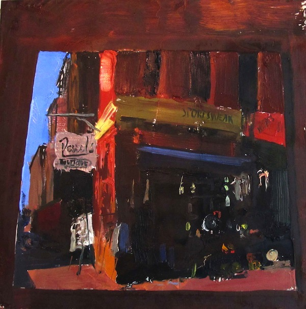 Gideon Bok, Paul's Boutique, 2011, oil on panel, 12 x 12 inches, courtesy Steven