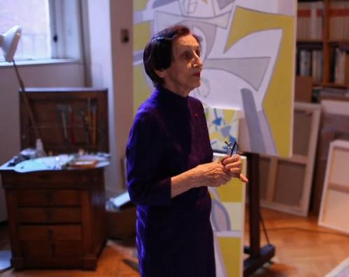 Françoise Gilot: In her New York studio (video screen capture: Tate Shots)
