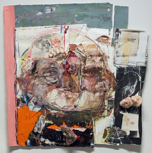 Judy Glantzman, Puppetry, 2013, mixed media, 40 x 39 3/4 inches (courtesy of Bet