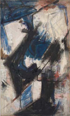 Judith Godwin, Martha Graham-Lamentation, oil on canvas, 60 x 35 3/4 inches, 1956 (courtesy of the artist)