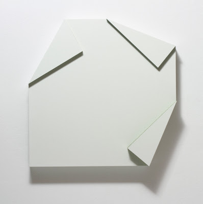 """Connie Goldman, Doublet X,  16"""" x 16"""" x Four Depths, oil on panel, 2012 (courtes"""