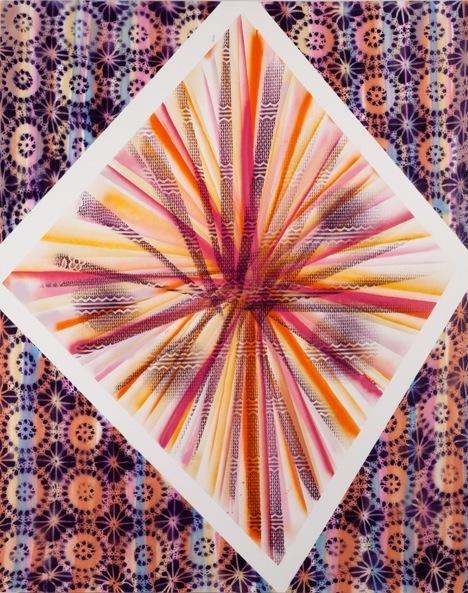 Tamara Gonzales, Ultra-powerful Gamma-ray Burst, 2011, spray paint on canvas, 60