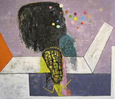Brenda Goodman, Jingle Jangle Morning, 51 x 58 inches, oil on wood, 2013 (courte