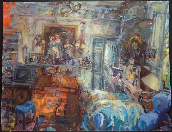 Catherine Goodman, London Interior I , 2009-10 oil on canvas 151.1 x 195.6 cm (c
