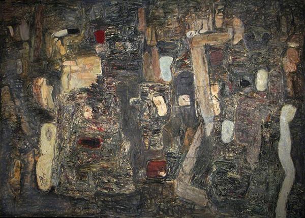 Brenda Goodman, Breakthrough, 1985, oil on canvas, 60 x 84 inches (courtesy of t