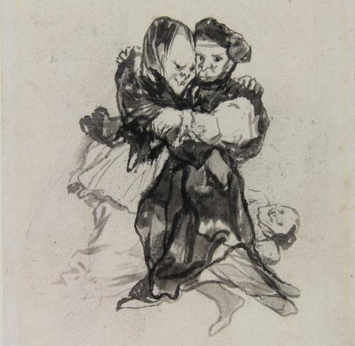 """Goya, """"Visiones,"""" Album D, c.1819-23 (Courtauld Gallery)"""