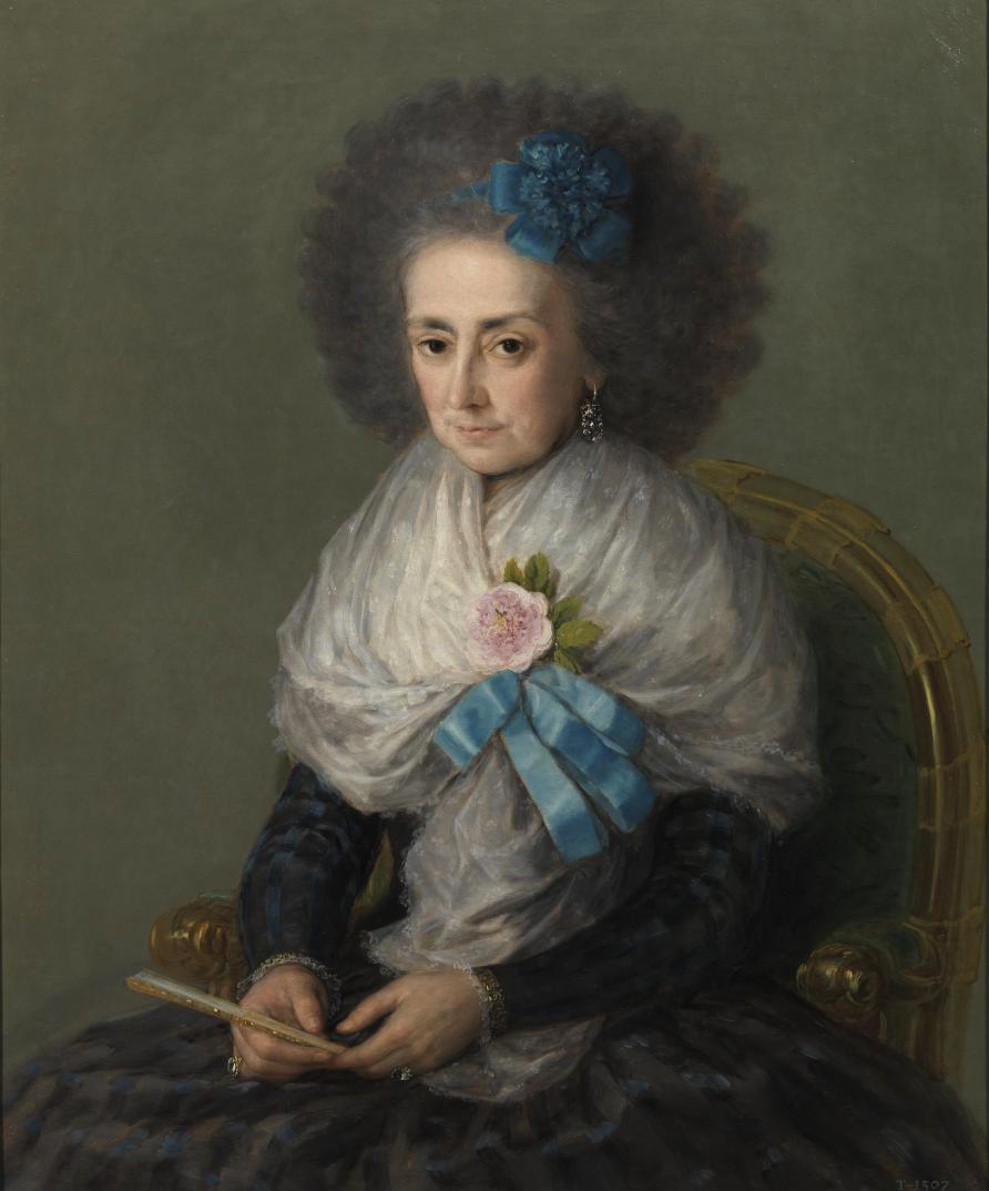 Goya, María Antonia Gonzaga, Marquesa Viuda de Villafranca, 1795 (Prado Museum)