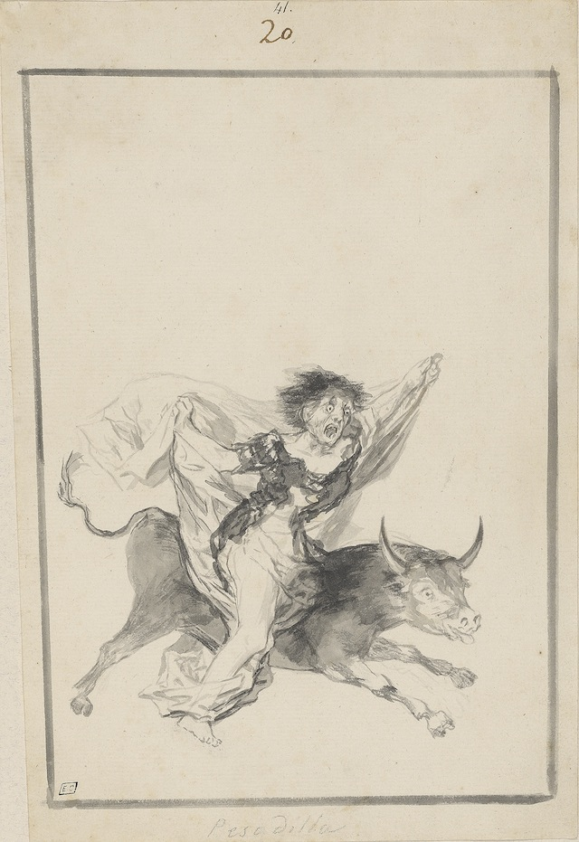 Francisco Goya, Pesadilla (Nightmare), c. 1816–20, black Border Album (E), page