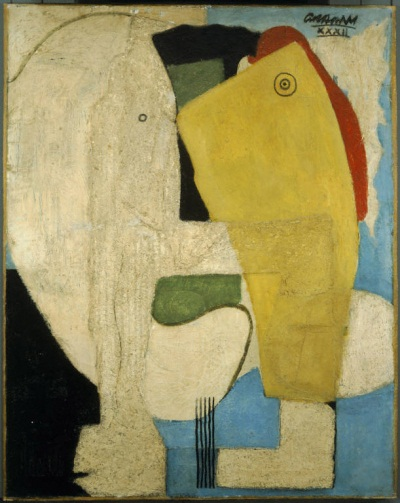John Graham, Embrace, 1932, Oil on canvas, 30 x 36 inches (Phillips Collection,