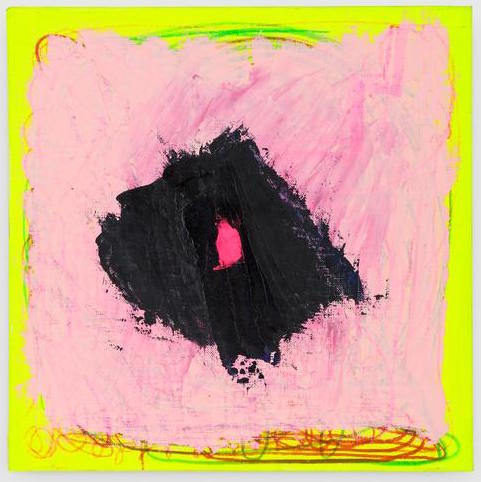 Joanne Greenbaum, Untitled, 2016, oil, acrylic and marker on canvas, 12 x 12 inc