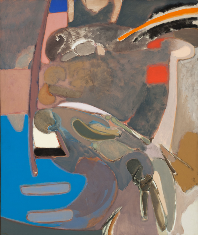 Stephen Greene, Descent, 1963, oil on canvas, 80 x 68 inches (courtesy of Jason