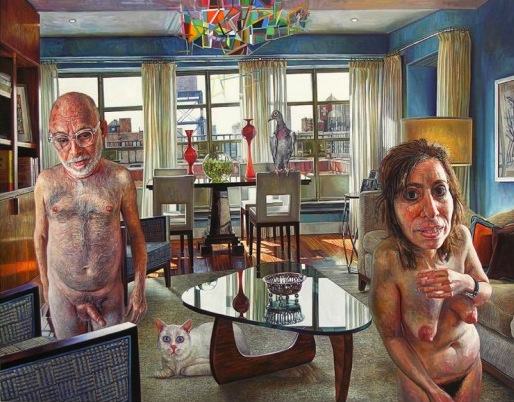Mark Greenwold  A Jewish Couple, 2011, oil on linen mounted on panel, 22 x 28 in