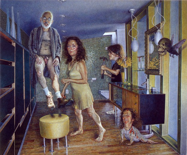 Mark Greenwold, All Joy Gone (for Marvin), 2000 - 2001, oil on wood, 15 x 18 inc