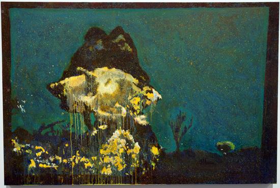 Greg Lindquist, Phosphorescent Cloud, 2012, Oil on panel, 32 x 48 inches (courte