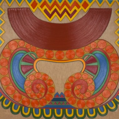 Mary Grigoriadis, Rain Dance, 1974, oil and acrylic on linen, 66 x 66 inches (co