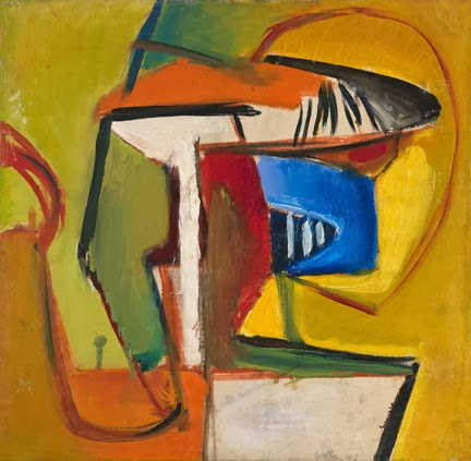 John Grillo, Untitled A, 1946, 19 1/2 x 20 inches, oil on canvas (courtesy of Da