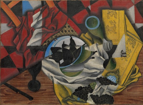Juan Gris, Pears and Grapes on a Table, Céret, autumn 1913